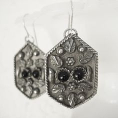 Victorian Inspired Vintage Earrings Silver by AlegriaCollection, $20.00