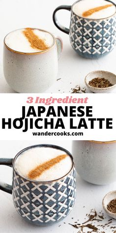 A light yet decadent drink, this creamy hojicha latte is for those who enjoy a hot beverage without the caffeine. Made from Japanese roasted green tea leaves, this latte is sure to give you tones of caramel, smoky nuttiness and a hint of sweetness. Green Tea Latte, Cook At Home, 3 Ingredients, Caffeine, Beverage, Vegetarian Recipes, Caramel, Roast, Leaves