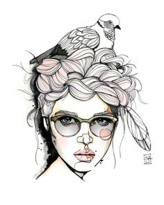 Tortora dal collare  illustration by Sara Ligari