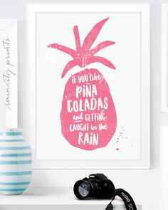 If you like Piña Coladas, getting caught in the rain.... -Jimmy Buffet 80s flashback!!! This fun new pineapple print, perfect to brighten up