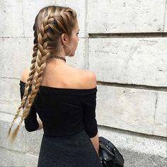 ♡ braid // hair // style // hairstyle // beauty // colour // color // hairdye…