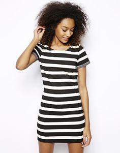 Vero Moda Wide Stripe T-Shirt Dress