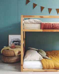 Simple but really cool #bunkbed design - good use of small space for 2 kids #nursery #nurserydesign