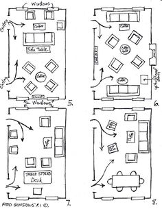 Living Room Dining Layouts