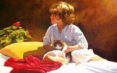 Donde miras?  65x100 oil on canvas, figurative painting by Jose Higuera. http://www.josehiguera.com  http://www.facebook.com/joseyhiguera