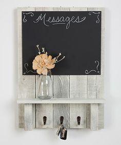 Look at this #zulilyfind! White Message Center Chalkboard & Shelf #zulilyfinds