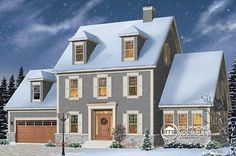 Colonial house plan, master suite, home office, home gym and solarium http://www.drummondhouseplans.com/house-plan-detail/info/chisholm-american-1002519.html