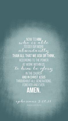 Ephesians 3:20, 21