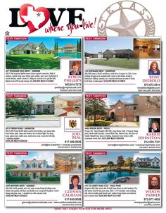 You always want to Love Where You Live! Great listings in great neighborhoods are on our Love Where You Live pages in our new issue of Homes & Land of Dallas and Fort Worth!