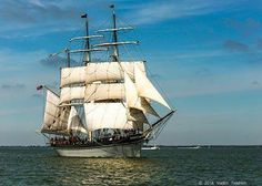 The official tall ship of Texas, the 1877 Barque Elissa in all her glory.