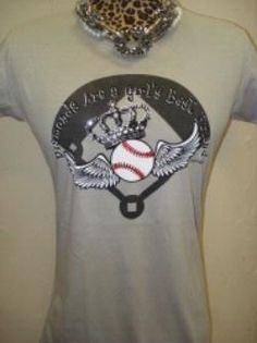 diamonds are a girls best friend.  Love this for a baseball mom shirt