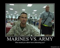 Marines vs Army- got to show this to my hubby. His brother is in the Army and always joking around about it