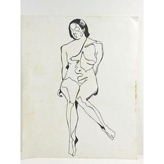 Image of Contour Abstract Nude Drawing