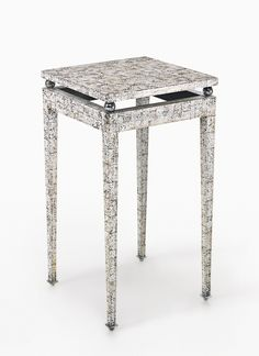 Marcel COARD - AN IMPORTANT AND RARE TABLE impressed C. COARD and with parrot cypher eggshell, lacquer and chromium-plated metal. Circa 1930 (hva)