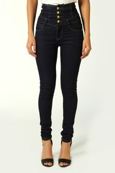 Highwaisted super soft skinny jeans. I've been looking for these for years!