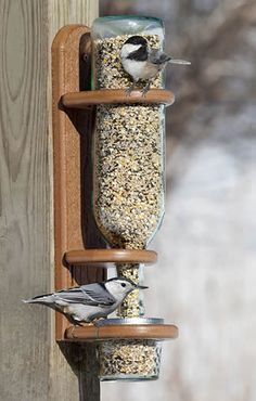 This feeder from Duncraft allows you to add your own recycled wine bottle to create your own garden style!