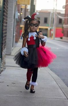 Harley Quinn Tutu Dress, Birthday, photo prop, Halloween, Harley Quinn Costume Superhero Inspired Co Tee Dress, Collar Dress, Dress Set, Small Dress, Costumes Avec Tutu, Kid Costumes, Children Costumes, Fairy Costumes, Robes Tutu