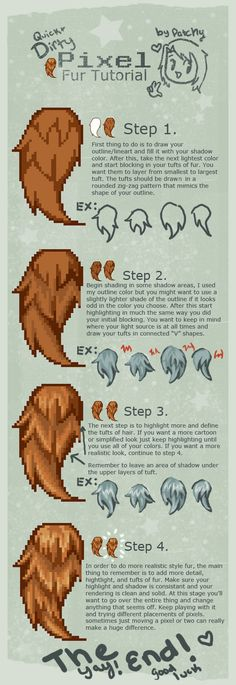 Pixel Fur tutorial by faustbane on DeviantArt