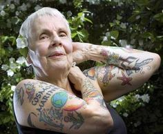 Tattoos when you're old. Ignore to the haters!