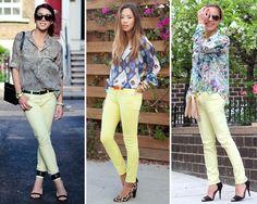 ZARA is the new black: Los pantalones pitillo en color amarillo pastel