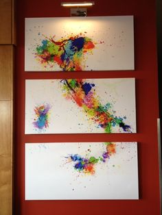 Love the vibrancy of the colors and the paint splash effect-especially in the middle section