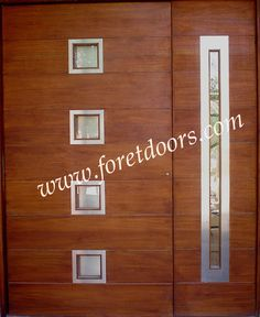 Custom entry door with stainless steel inserts