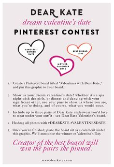 Pin to Win: Foolproof Underwear by Dear Kate #Dearkate #valentinesdate #pinittowinit #contest #giveaway #valentine #lingerie