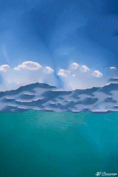 SJ Cummings : 3rd Floor - Pixel Mount, $1893 Science Art, Clouds, Paintings, Flooring, Gallery, Artwork, Outdoor, Outdoors, Work Of Art