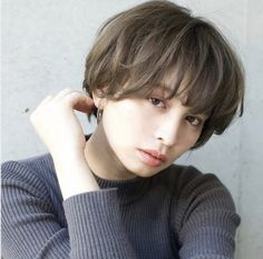 2018 Japan's latest and most popular curly hair - Page 28 of 37 - zzzzllee Short Perm, Short Hair Cuts, My Hairstyle, Cute Hairstyles, New Hair, Your Hair, Androgynous Hair, Hair Arrange, Mid Length Hair