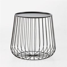 Cage metal wire side table Am. Wire Side Table, Turkish Furniture, Metal Design, Cage, Fashion Room, Solid Oak, End Tables, Coffee Tables, Strands