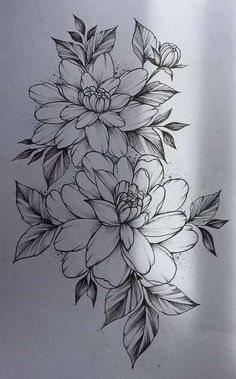 Flower Drawing 52 Beautiful Ideas Flower Tattoos - One of the most marvelous creations on the planet are flowers and we can see why because they are absolutely gorgeous. Flowers are a great element that makes for an amazing tattoo. Flower Tattoo Designs, Flower Tattoos, Flower Designs, Tattoo Ideas Flower, Forearm Flower Tattoo, Flower Ideas, Design Tattoos, Floral Tattoo Design, Neue Tattoos