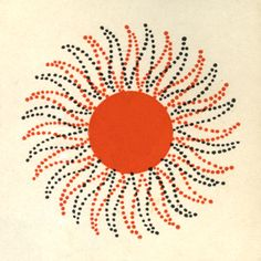 sun graphic repeated on wall