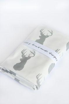 grey deer blanket from Miss j Handmade