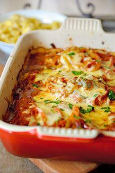 Kip uit de oven met een kaaskorstje --> niet met brood of pasta eten ;-)