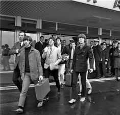 The Beatles at the airport