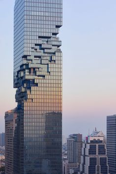 The 77-storey MahaNakhon tower topped out in 2015, becoming the tallest building in the Thai capital at 314 metres. As the project neared completion last year, a series of images posted on Instagram displayed its sculptural exterior form.