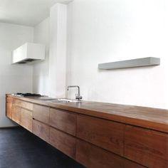 Wooden Minimal Kitchen Design by Stump & Schibli Architekten BSA Minimal Kitchen Design, Minimalist Kitchen, Minimalist Design, Minimalist Living, Minimalist Bedroom, Kitchen Interior, New Kitchen, Kitchen Decor, Modern Interior
