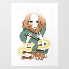 Eve Art Print by Elena Mir | Society6