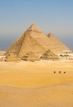 The great Pyramids of Egypt. Pharoahs were burried here, for it was believed…