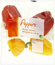 Sainsbury's Basics Peppers (600g)