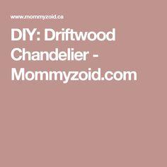 DIY: Driftwood Chandelier - Mommyzoid.com