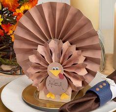Turkey Thanksgiving Table Setting