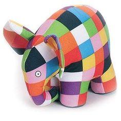 Elmer The Elephant Soft Toy Elmer The Elephants, Bb Reborn, Activities For 1 Year Olds, Kindergarten, Nursery Themes, Themed Nursery, Baby Online, Dinosaur Stuffed Animal, Animals