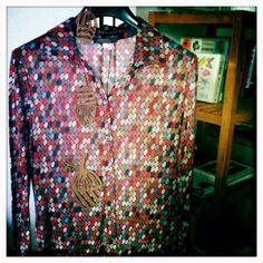 Printed modal jersey top - monika Varga - art prints