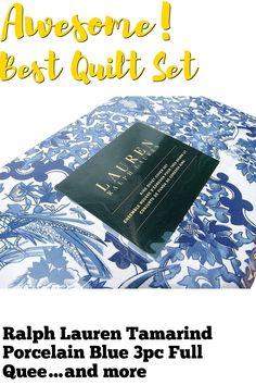 (This is an affiliate pin) Ralph Lauren Tamarind Porcelain Blue 3pc Full Queen Duvet Cover Set Best Duvet Covers, Duvet Cover Sets, Tamarind, Queen Duvet, Quilt Sets, Porcelain, Ralph Lauren, Blue, Sunrises