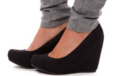Lime Lush Boutique - Black Suede Wedge Pump, $59.99 (http://www.limelush.com/black-suede-wedge-pump/)