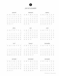 Free Printable, 2017 Yearly Calendar – Emily Ley …