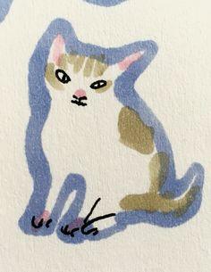 Cat by Marie Åhfeldt, Mås Illustra. www.masillustra.se #kitten #cat #illustration #drawing #masillustra