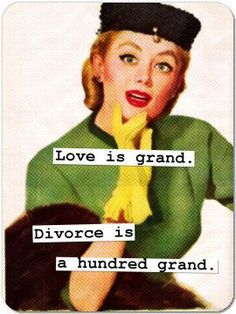 Love is grand.  Divorce is a hundred grand.   Well not quite...  www.ambrosefamilylaw.com