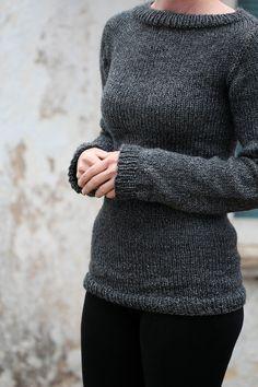 Knit Sweater Knitting Pattern  Great beginner sweater pattern